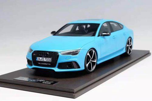 Audi RS7 Sportback Performance 2017 Baby Blue | MOTORHELIX | 1:18